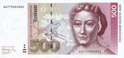 德国发行的500马克纸币正面梅里安像.jpg