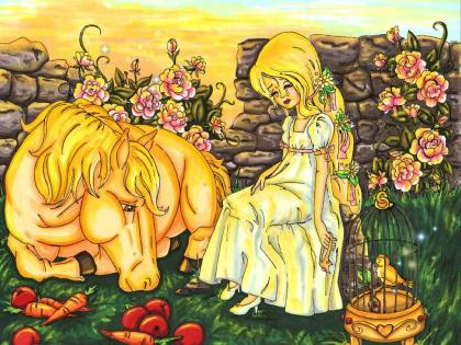 童话中的女主角大多数是美丽又柔弱的,这种形象反映了男权社会对于女性的性别期待,只要贤妻良母,排斥精明能干的女性。.jpg