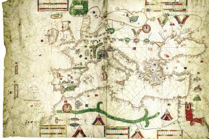 绘制于1489年的一张波特兰航海图.jpg
